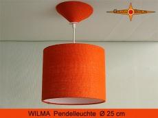 Orange Hängelampe WILMA Ø 25 cm Jutelampe