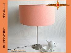 Tischlampe apricotfarben BARBARA Tischleuchte