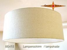 Lampenschirm beige BEATE Ø 50 cm Seide Bourette natur