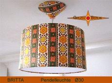Pendelleuchte Retro BRITTA Ø 30 cm Prilblumen Lampe 80er mit Diffusor