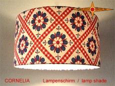 Lampenschirm in Vintage Design CORNELIA Ø40 cm aus original Retrostoff