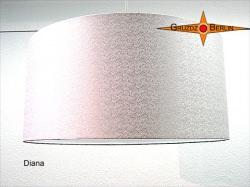 Lampenschirm aus weisser Seide DIANA Ø50 cm Seidenjacquard