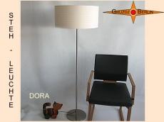 Beige Stehlampe DORA mit Streifenmuster