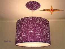 Kinderlampe mit lila Elefant ELE LILA mit Diffusor