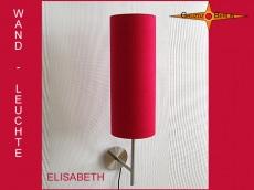 Rote Wandlampe aus Seide ELISABETH Wandleuchte