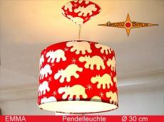 Kinderlampe EMMA mit Nilpferd Ø 30 cm Pendelleuchte