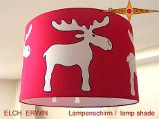 Kinderlampenschirm ELCH ERWIN Ø 45 cm roter Lampenschirm