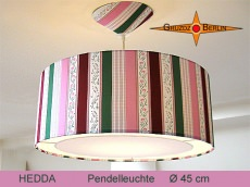 Hängelampe mit eleganten Streifen HEDDA Ø45 cm