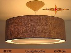 Große Lampe aus Jute HEIDE Ø60 cm mit Lichtranddiffusor