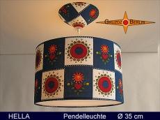 Lampe in Vintage Design HELLA Ø35 cm mit Pendellampe mit Diffusor