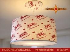 Kinderzimmerlampe Teddy KUSCHELWUSCHEL Ø40 cm Pendelleuchte mit Diffusor