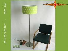 Grüne Stehlampe LALE Stehleuchte Lindgrün gepunktet