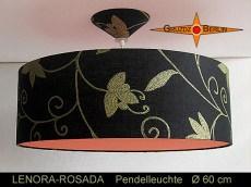 Loungelampe LENORA-ROSADA Ø60 cm Hängelampe mit Pink Diffusor
