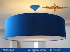 Blaue Pendellampe mit Diffusor MARINA Ø70 cm Hängelampe