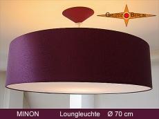 MINON festliche Leuchte aus Satin Seide in Bordeaux mit Diffusor