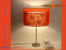 Tischlampe aus oranger Organzaseide SARAH-MARGA ein auch aus Seide