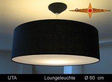 Schwarze Loungeleuchte UTA Ø60 cm schwarze Pendellampe mit Diffusor