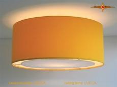 Gelbe Deckenleuchte LUCILA Ø50 cm Deckenlampe mit Diffusor