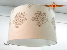 Vintage Lampenschirm BERTA Ø40 cm mit Landhausstil Blüten