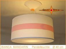 Hängelampe Weiss Orange BIANCA M Ø40 cm Pendellampe mit Diffusor