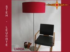 Stehlampe Bordeaux CARDA bordo rote Stehleuchte