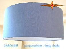 Blauer Lampenschirm aus Leinen CAROLINE  Ø35 cm