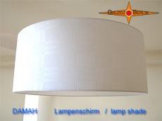 Weisser Lampenschirm aus Damast DAMAH Ø50 cm