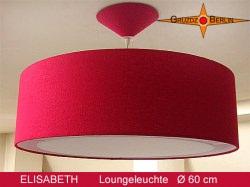 Grosse Hängelampe aus Seide ELISABETH Ø60 cm mit Lichtrand Diffusor