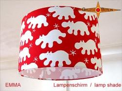 Kinderlampenschirm mit lustigen Hippos EMMA Ø30 cm