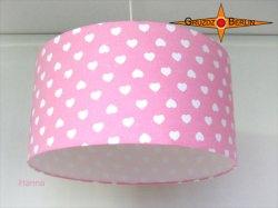 Rosa Lampenschirm mit Herzen HANNA Ø40 cm