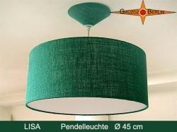Hängelampe aus grüner Jute LISA Ø45 cm mit Diffusor