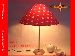 Tischlampe HANS der FLIEGENPILZ Ø50/10 cm Punktelampe