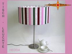 Tischlampe gestreift HEDDA Tischleuchte