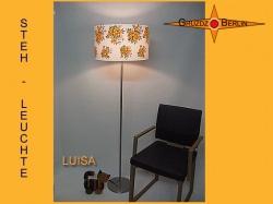 Stehlampe in Vintage Design LUISA mit Blüten der 60er Jahre