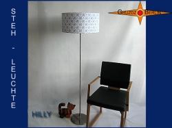 Stehlampe HILLY aus Retrostoff der 50er Jahre