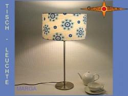 Tischlampe im Vintage Design MARGA aus Retrostoff