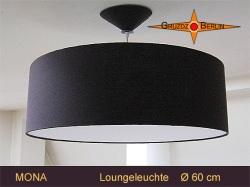 Pendellampe dunkelbraun MONA Ø60 cm Loungeleuchte mit Diffusor