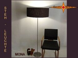 Stehlampe MONA aus braunem Leinen