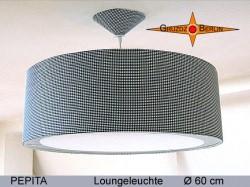 PEPITA Hängelampe in Schwarz Weiss Ø60 cm mit Diffusor