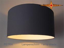 Grauer Lampenschirm PETRA Ø30 cm