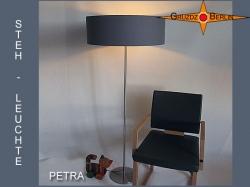 Graue Stehlampe PETRA aus Baumwolle Twill
