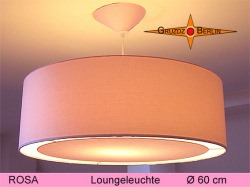 Große Hängelampe ROSA  Ø60 cm mit Lichtrand Diffusor