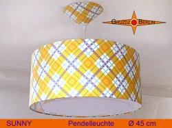 Hängelampe im Vintage Design SUNNY Ø45 cm  mit Lichtrand -Diffusor