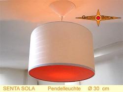 Hängelampe mit orange Diffuser SENTA SOLA Ø30 cm Pendellampe beige
