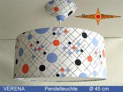 Gepunktete Hängelampe VERENA Ø45 cm mit Lichtrand Diffusor