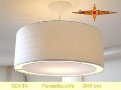 Beige Lampe mit Streifen SENTA Ø45 cm  Lichtrand Diffusor