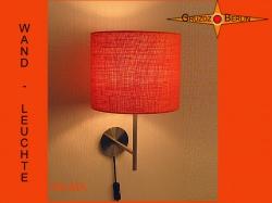 Wandlampe aus oranger Jute WILMA