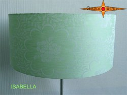 Stehlampe aus Damast Mint Grün ISABELLA