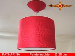 Rote Lampe aus Seide Satin KATHARINA Ø30 cm
