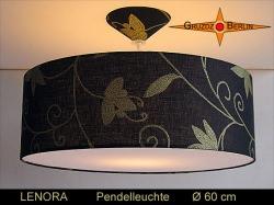 Festliche Lampe Gold Schwarz LENORA Ø60 cm Hängelampe mit Diffusor